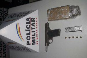 Manhumirim: PM apreende drogas, arma e munições no B. Nossa Senhora da Penha
