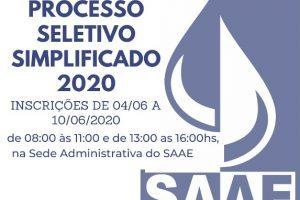 Manhuaçu: SAAE abre processo seletivo