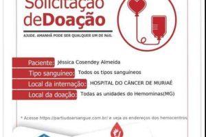 Paciente precisa de sangue com urgência