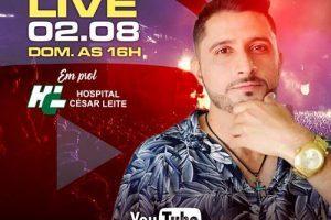 Cantor Raul Mendes promove live em prol do HCL no domingo