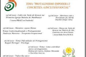 Apae de Manhuaçu promove Semana da Pessoa com Deficiência online