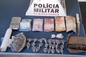 Plantão PM: Drogas e arma apreendidas em Manhuaçu