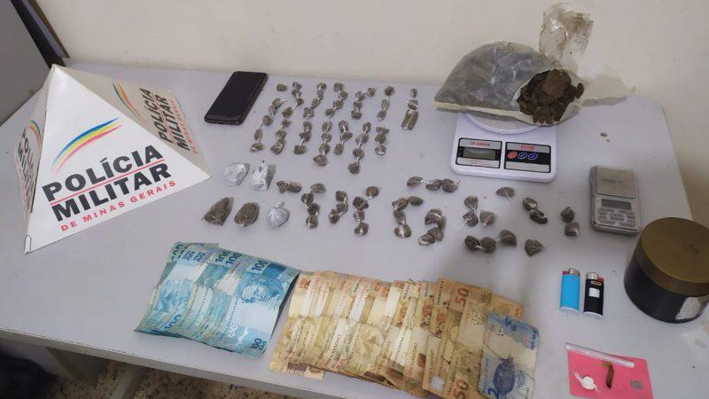 Plantão PM: Drogas e arma apreendidas em Manhuaçu e região
