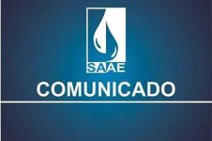 SAAE solicita economia de água devido a manutenção