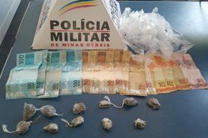 Drogas são apreendidas e prisão no Bairro Santana