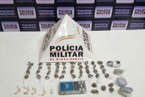 PM na região: Drogas apreendidas em Caratinga; TV recuperada em Lajinha