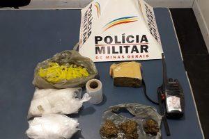 Plantão PM: Drogas apreendidas em Manhuaçu