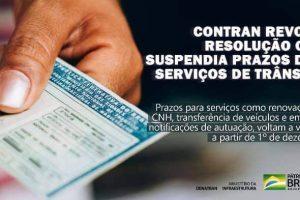Contran revoga resolução que interrompia prazos de serviços de trânsito; cobrança volta em 01/12
