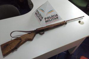 Arma de fogo é apreendida em Durandé