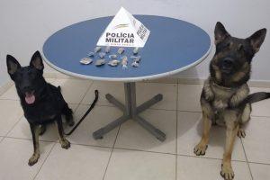 PM em Manhuaçu: Drogas apreendidas em dois bairros