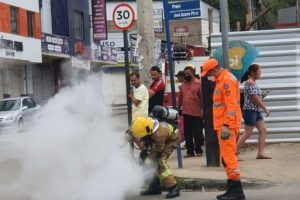Princípio de incêndio é combatido em Manhuaçu