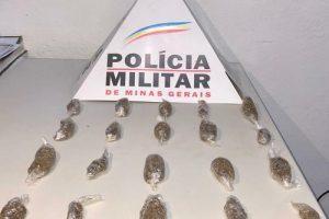 PM na região: Drogas apreendidas em Pedra Bonita