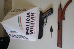 PM apreende arma e evita crime violento em Matipó