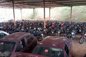 160 veículos recuperáveis serão leiloados neste sábado em Manhuaçu