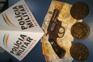 Região: PM prende autor, apreende menor e arma de fogo