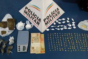 Manhuaçu: PM prende traficante, apreende menor e drogas São Francisco de Assis