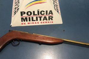 PM apreende arma no bairro Ponte da Aldeia