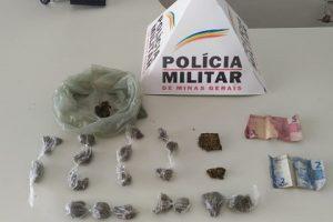 Drogas apreendidas e homem preso em São João do Manhuaçu