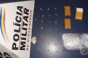 Drogas apreendidas no bairro Santa Luzia, em Manhuaçu