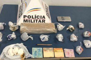 PM prende acusado de homicídio em Manhuaçu; Drogas apreendidas