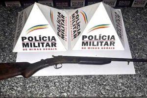 Arma é apreendida na zona rural de Mutum