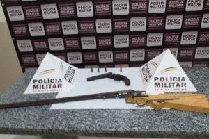 Mutum: Duas armas são apreendidas e autor de ameaça preso