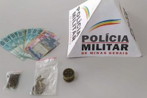 Região: PM apreende dinheiro, drogas e arma