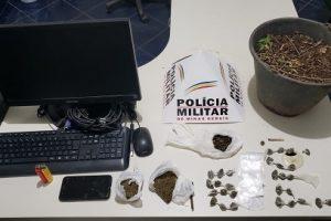Durandé: PM prende traficante, apreende menor e drogas