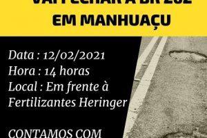 Buraqueira na BR 262: Rodovia será fechada nesta sexta, 22/02