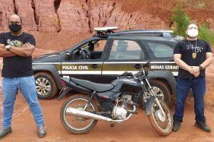 Motocicleta furtada é recuperada pela Polícia Civil