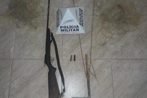 Caparaó: PM apreende arma e materiais utilizados em caça predatória