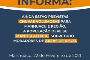 Defesa Civil alerta para possibilidade de fortes chuvas em Manhuaçu