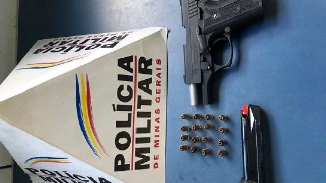 Exibe arma e acaba preso pela PM; Traficante preso em Manhuaçu