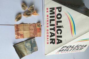 Menor é apreendido com drogas em Manhuaçu