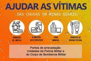 """Manhuaçu: PM dá inicio a Campanha """"SOS Chuvas MG"""""""