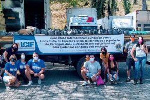 Lions Clubs Internacional doam 37 mil reais em cestas básicas para Espera Feliz e Carangola