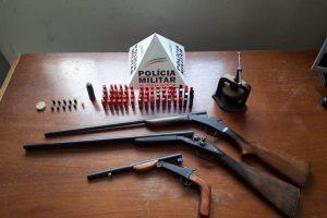 Armas, drogas, pássaros apreendidos e prisões feitas na região