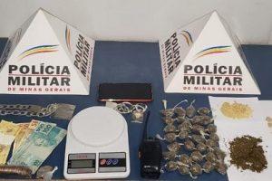 Manhuaçu: PM prende traficante, apreende drogas e dinheiro