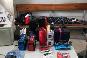 Produtos de furto são recuperados pela PM em Manhuaçu