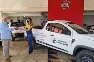 Rotary Club Manhuaçu entrega Strada 0km para o Hospital César Leite