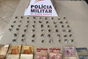 Dinheiro e drogas apreendidos em Manhumirim