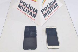 Mutum: PM prende autores e recupera celular furtado