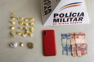 PM prende/apreende autores de roubo e tráfico de drogas