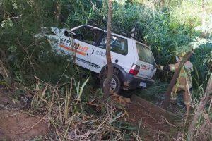Acidente deixa uma pessoa ferida na BR 262, em Manhuaçu