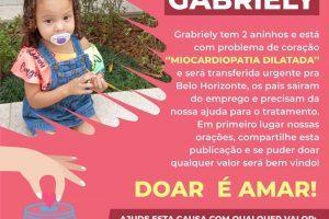 Família faz campanha para tratamento da pequena Gabriely