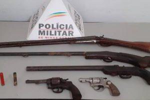 PM retira mais cinco armas de fogo e munições de circulação