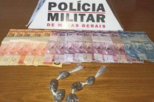 Lajinha: PM apreende menor com drogas e dinheiro