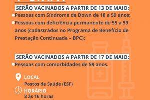 3ª fase da vacinação contra Covid-19 começa hoje, em Manhuaçu