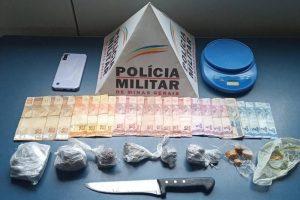 PM apreende drogas e dinheiro em Manhuaçu