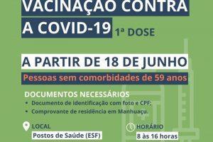 Manhuaçu inicia nova fase da vacinação contra a Covid-19